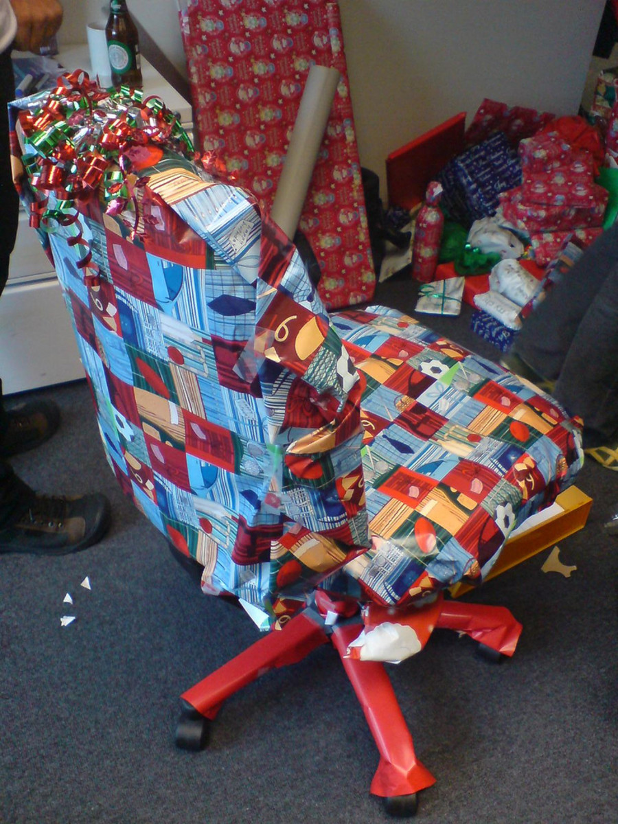 This is a great prank to pull after the holidays- when there's a ton of left over wrapping paper to play with!