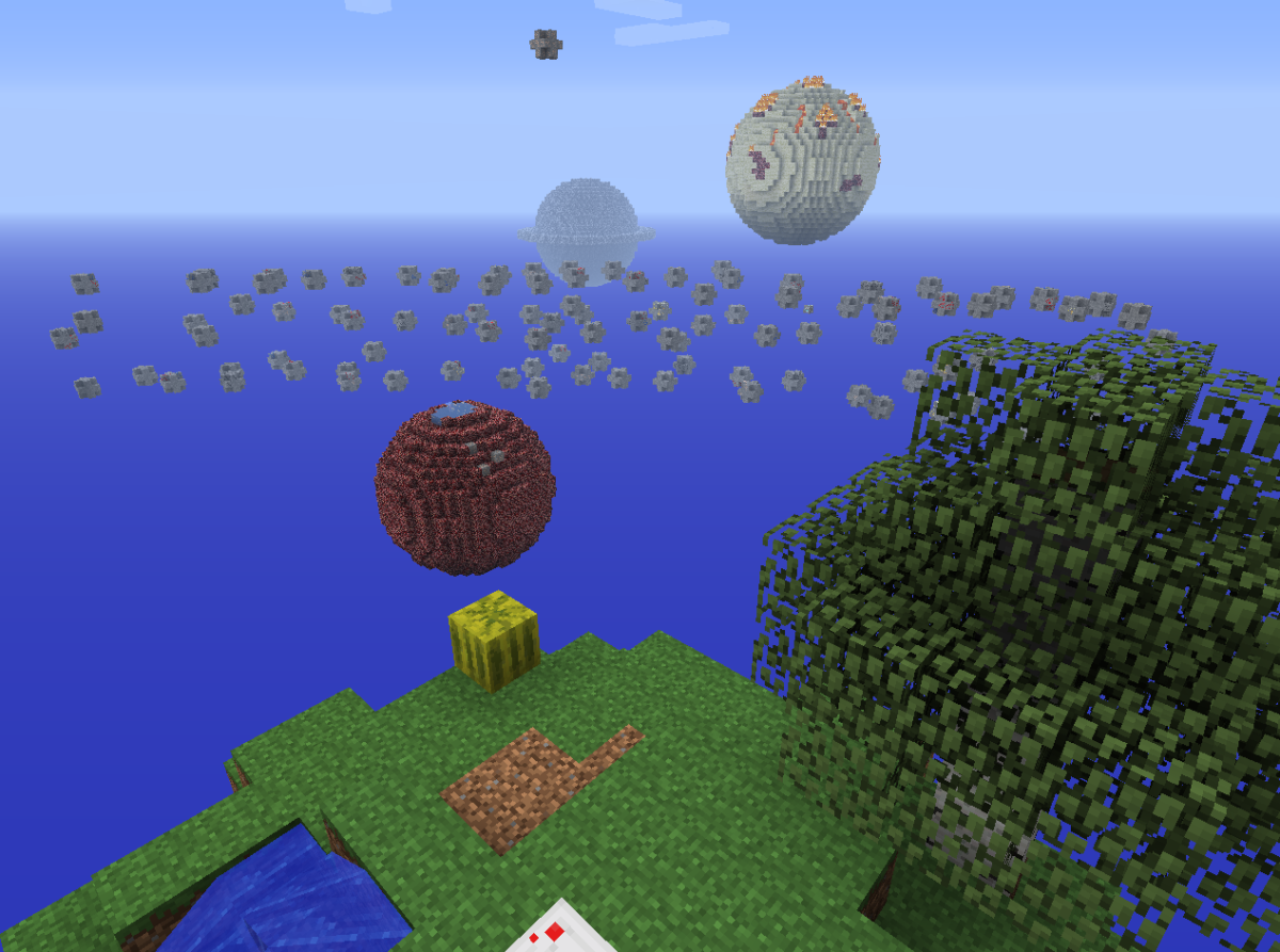 The minecraft solar system by day.