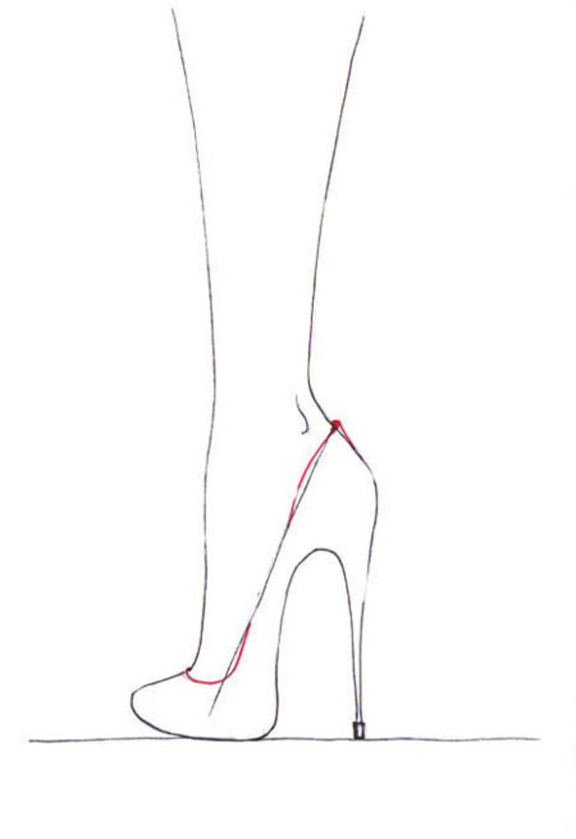 Finish the shoe's outline and color it with taste!