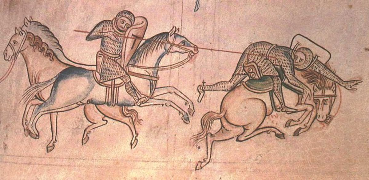 William Marshal at a tournament.