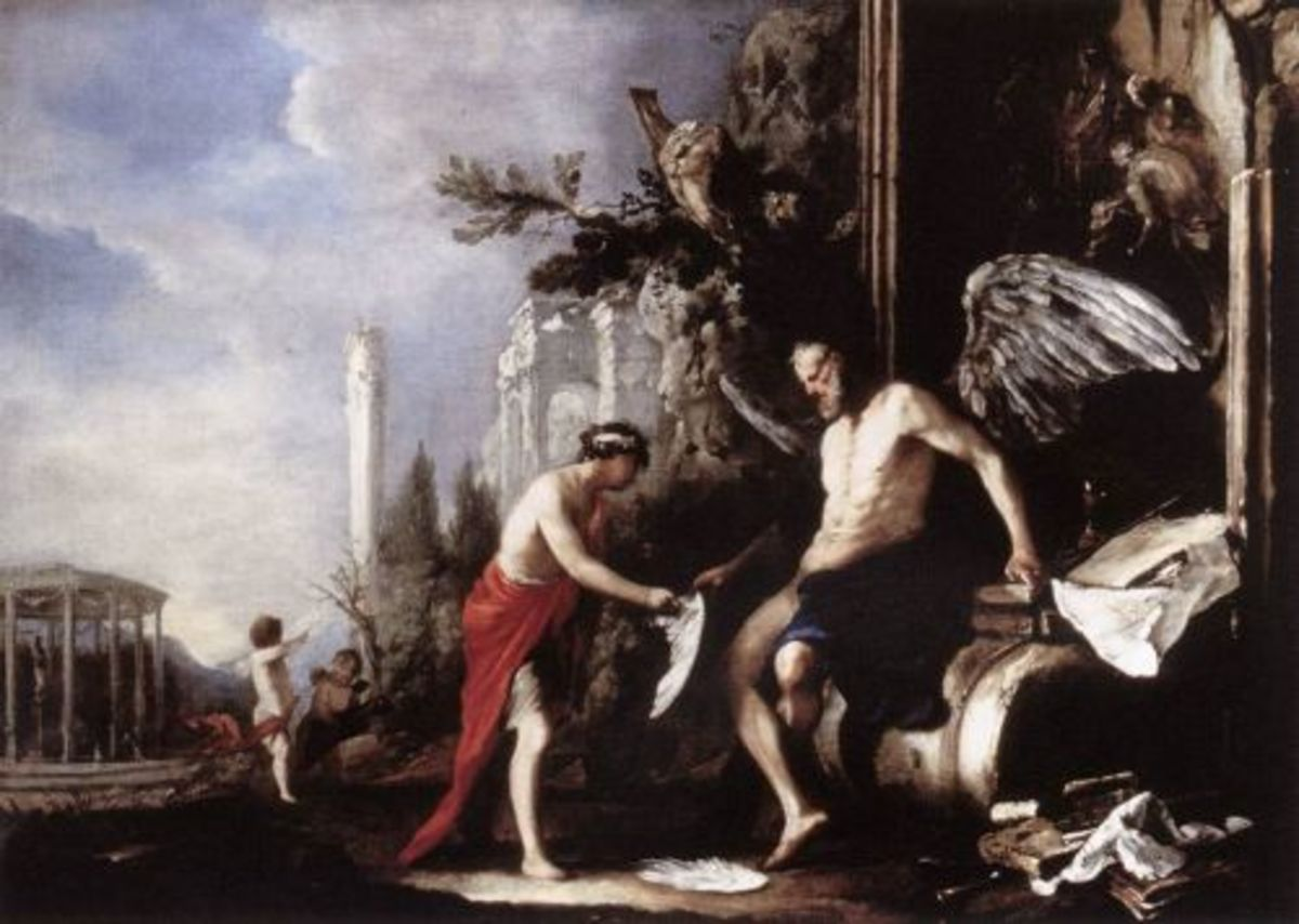 Chronos and Eros. Johann Heinrich Schönfeld