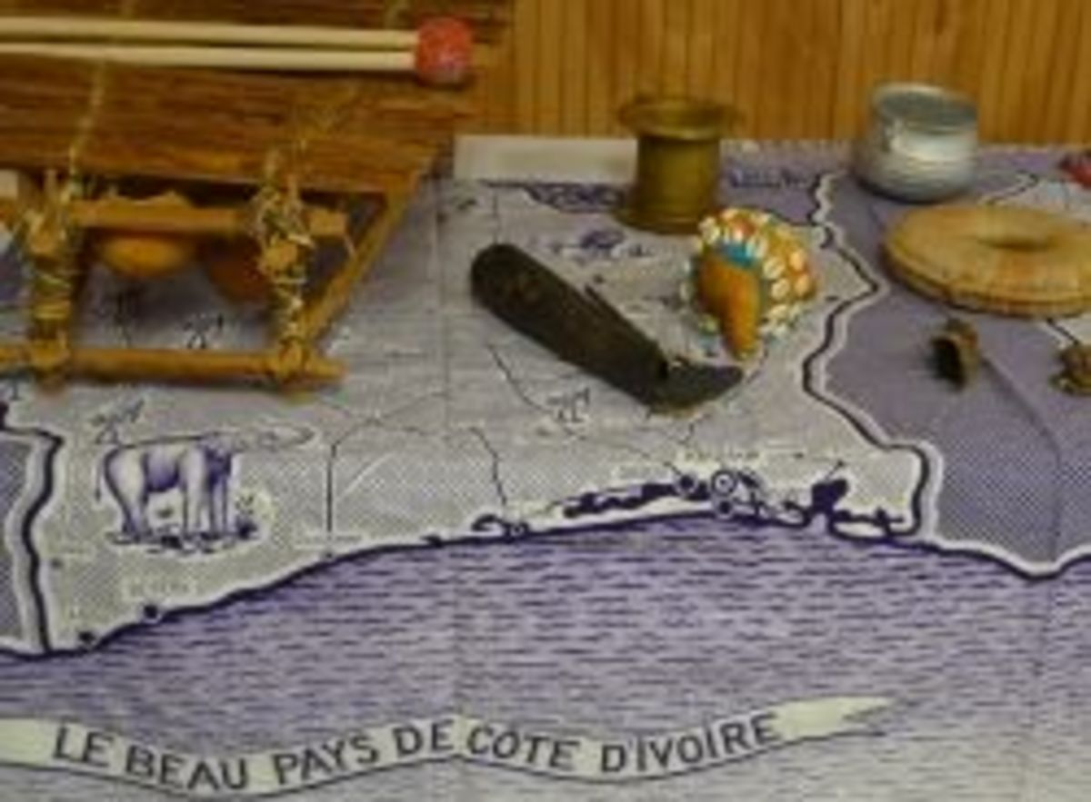 Ivory Coast Items - Photo taken by Michelle Harrison, who participates in our class