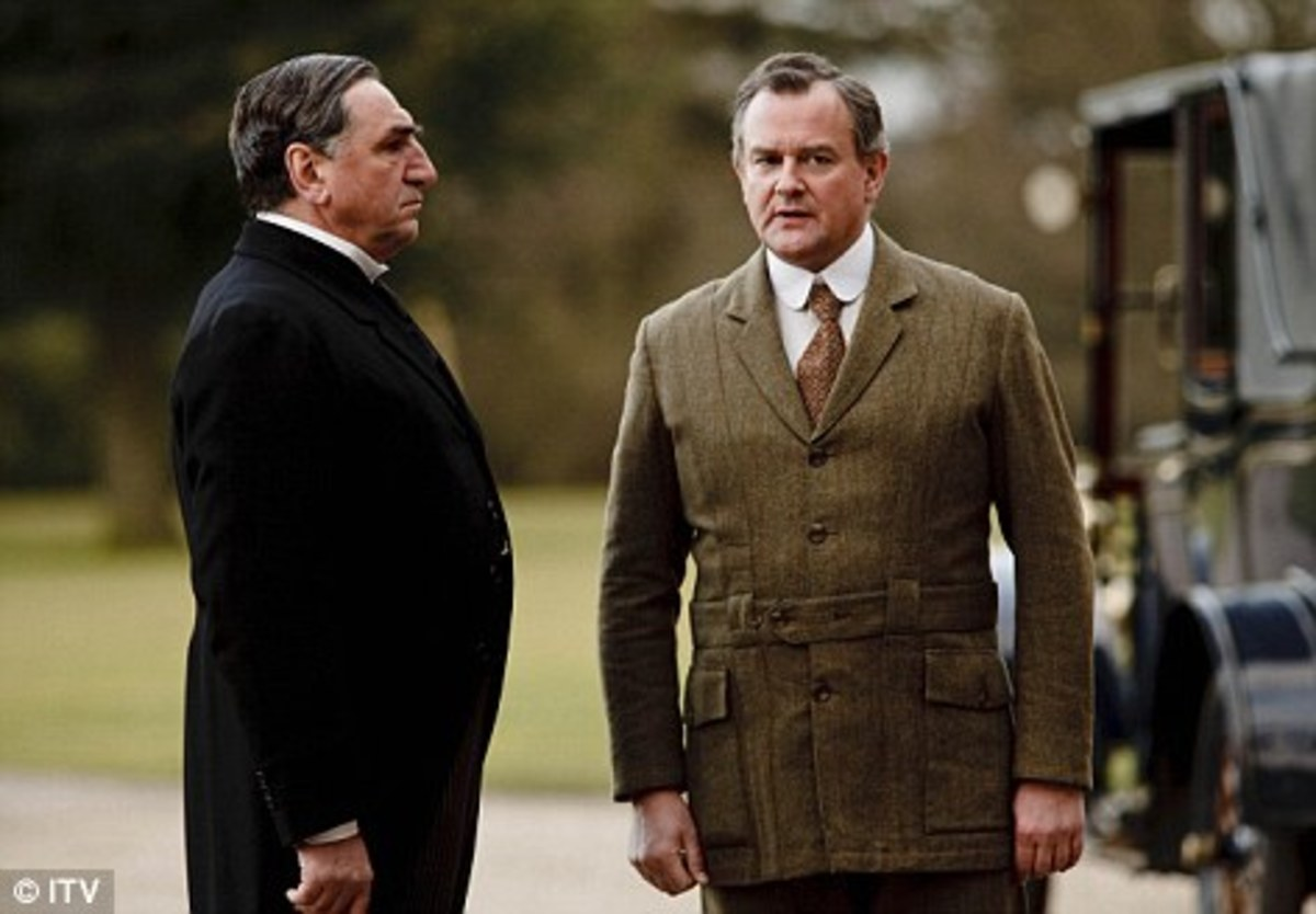 Robert Crawley, The Earl of Grantham with Carson His Butler