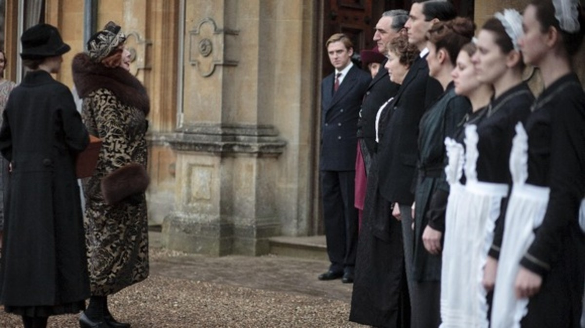 Series 3 - Martha Levinson arrives at Downton Abbey