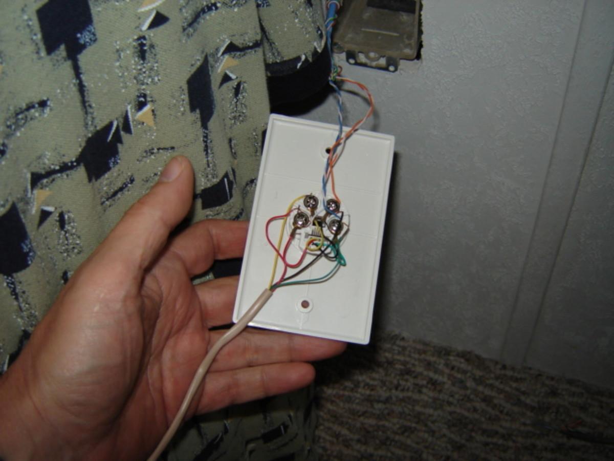 Inside a phone jack