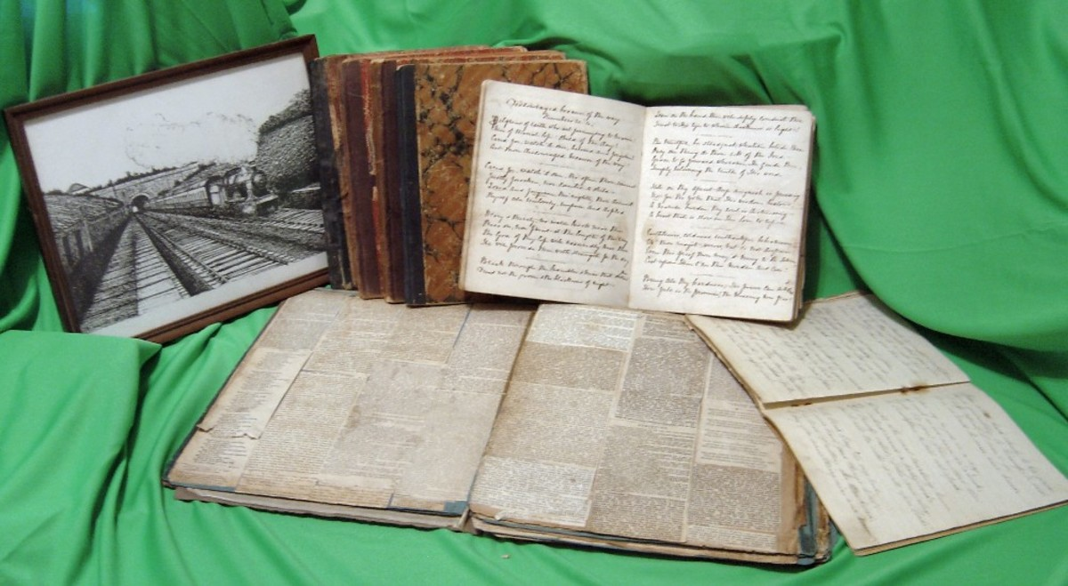 Poetry and scrapbook by George Burgess (1829-1905)