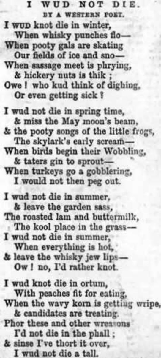 An early 19th Century American Poem