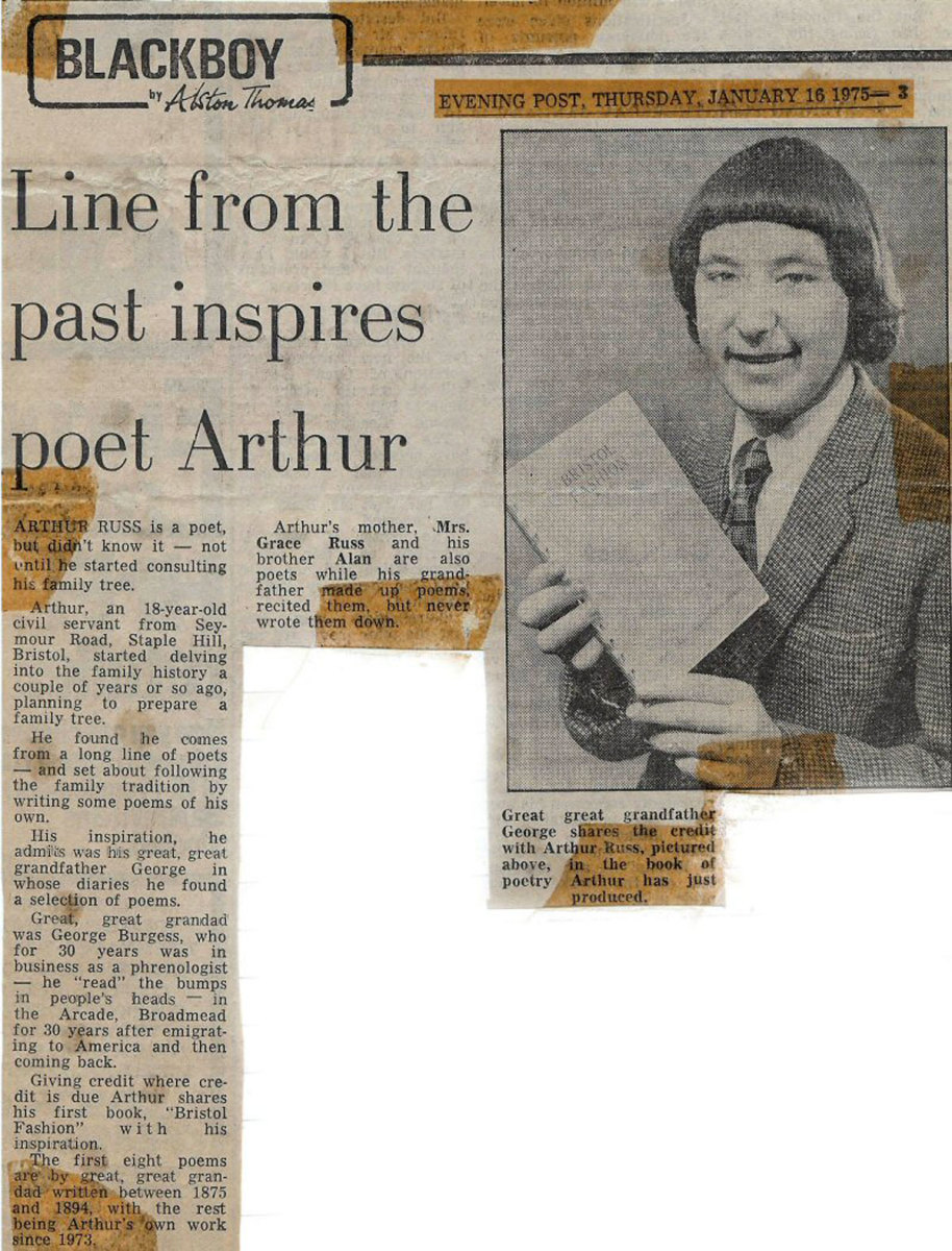 Lines from the past inspires poet.