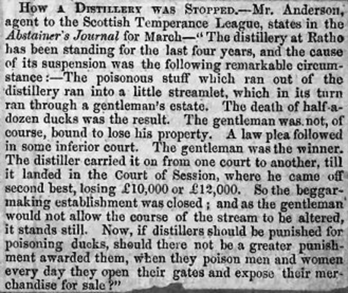 How A Distillery was stopped in Scotland by the Scottish Temperance League