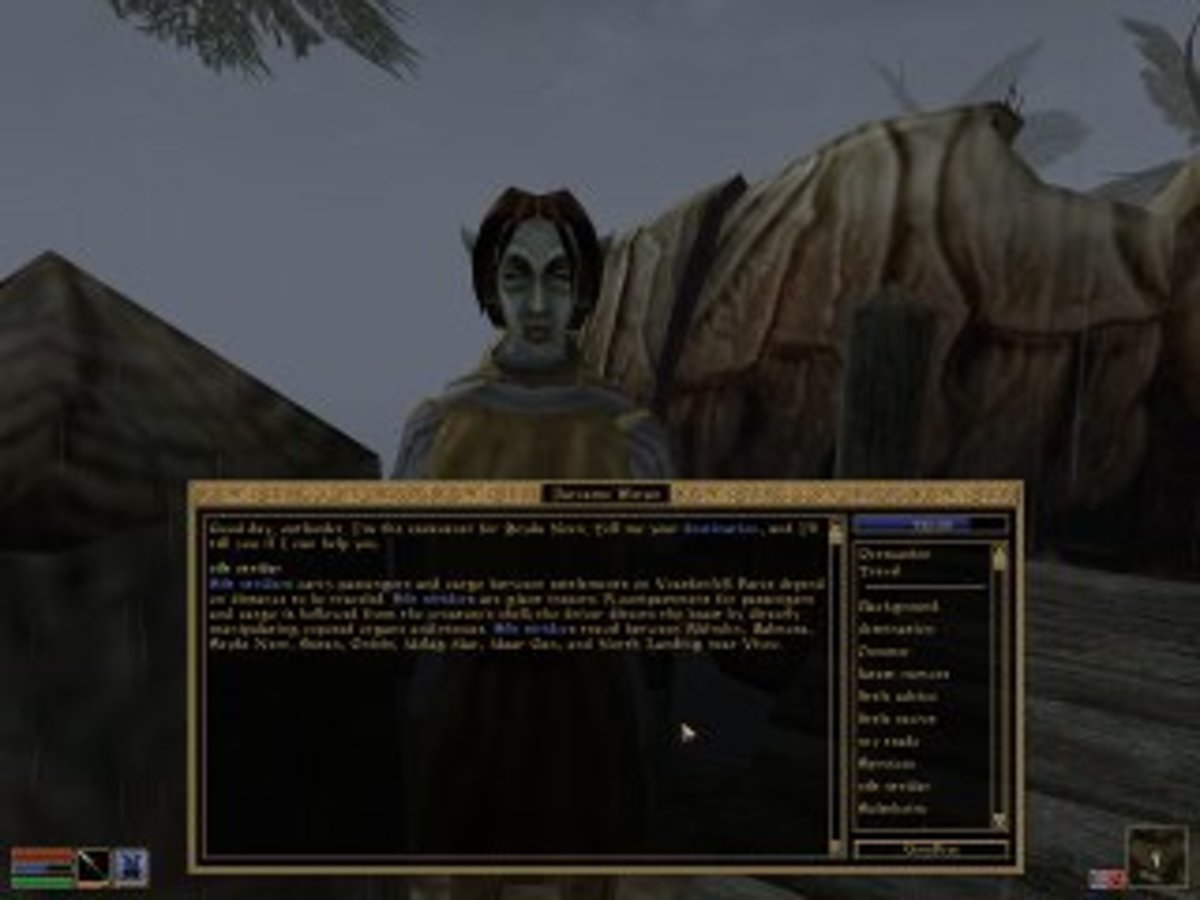 Morrowind used silt striders among other devices to create immersive fast travel options.