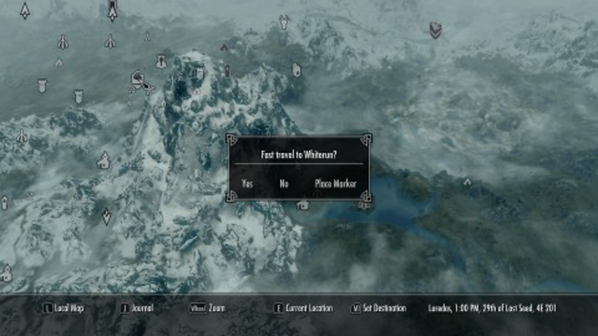 Fast Travel and Narrative Elision in Skyrim