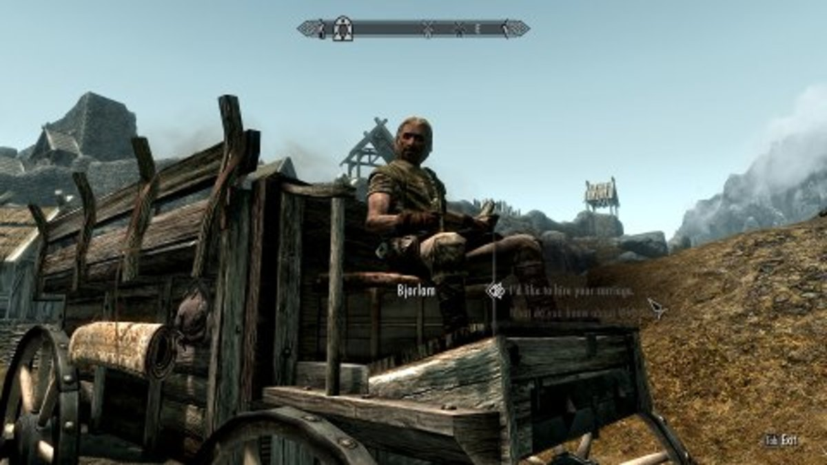 Skyrim's carriage service is an immersive implementation of limited fast travel.