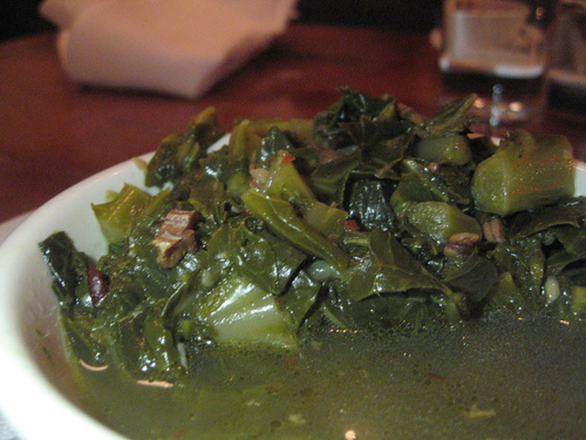 Collard Greens cooked with Ham hocks