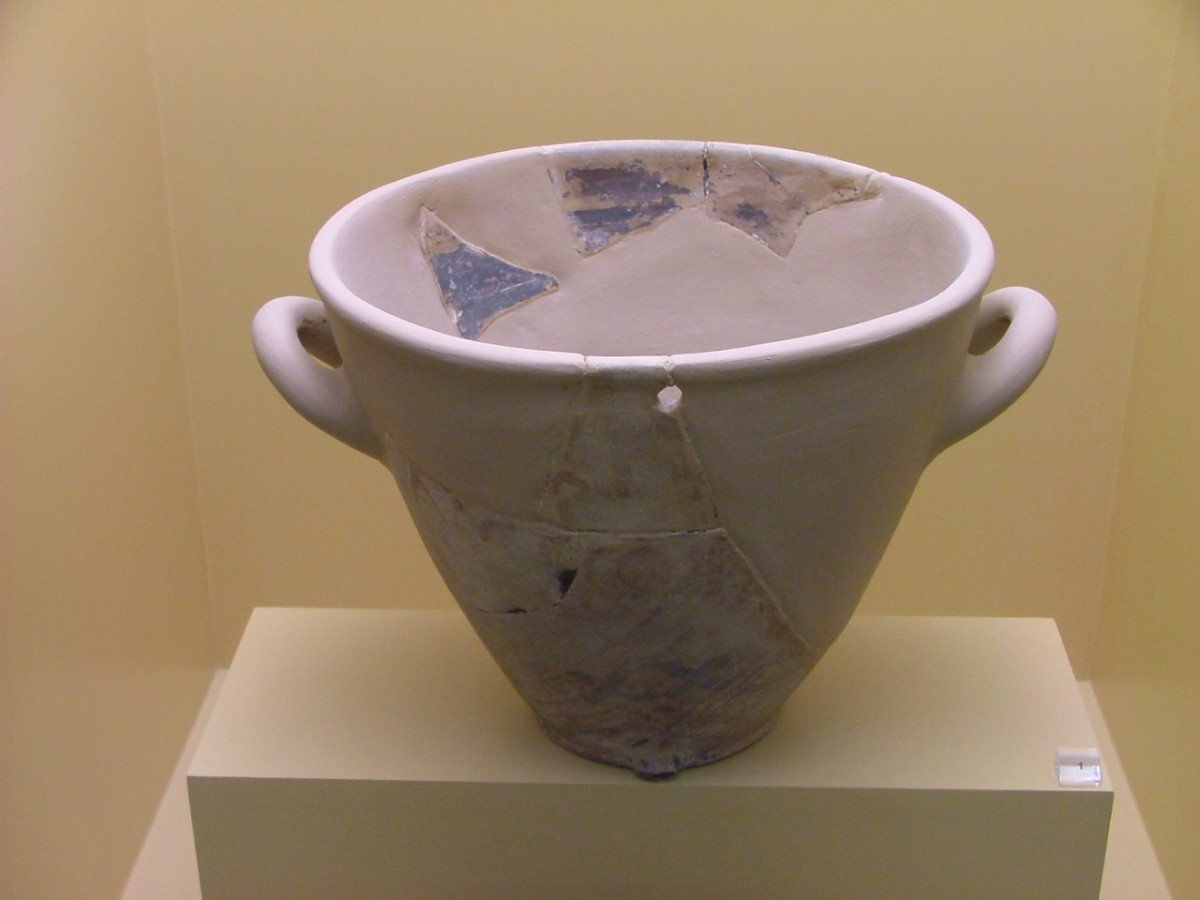 Water Clock: Reconstruction of a clay original of the late 5th cent. B.C. Ancient Agora Museum in Athens