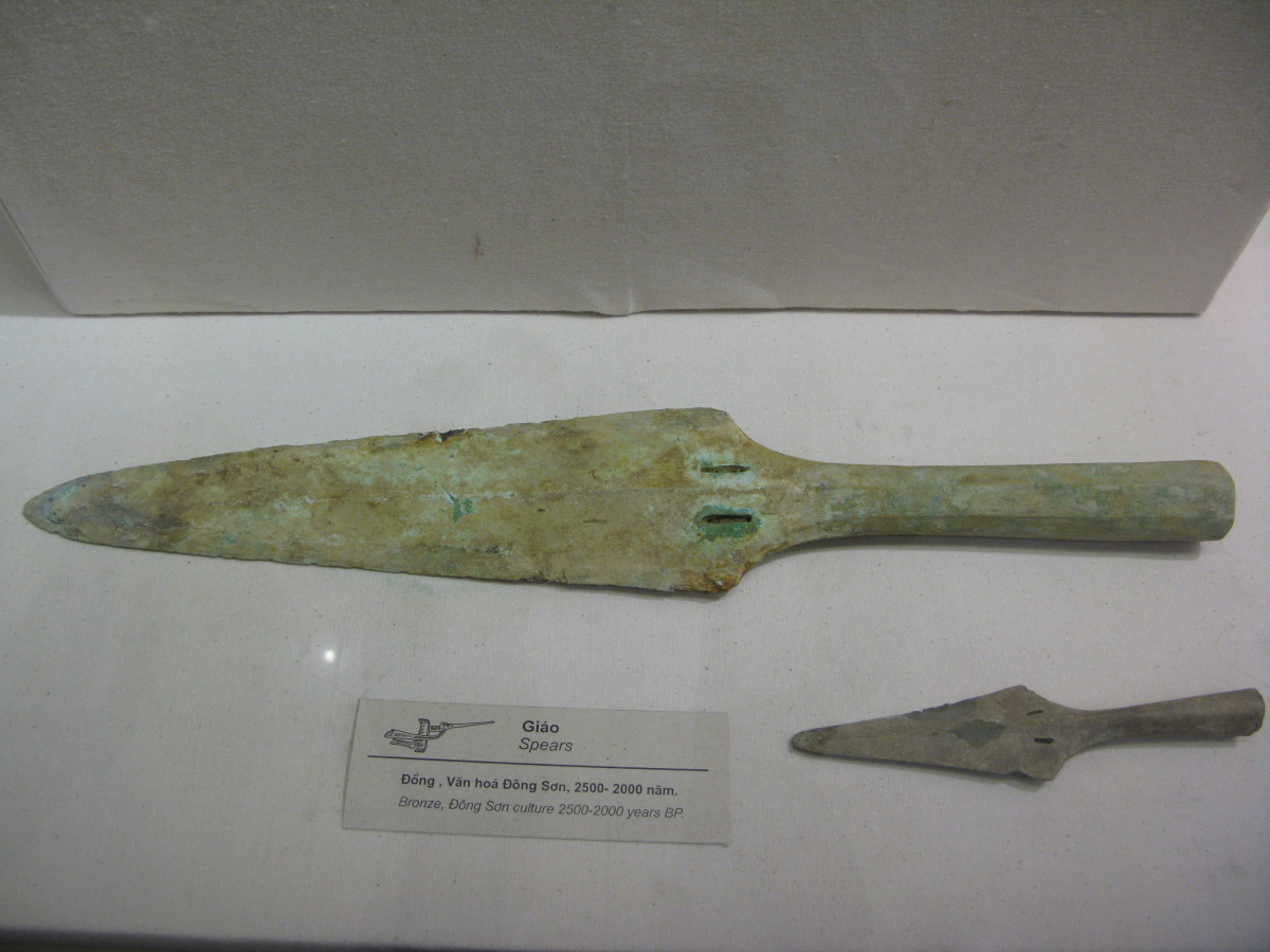 Bronze spear heads, Dong Son culture, 500 BCE-0, Vietnam
