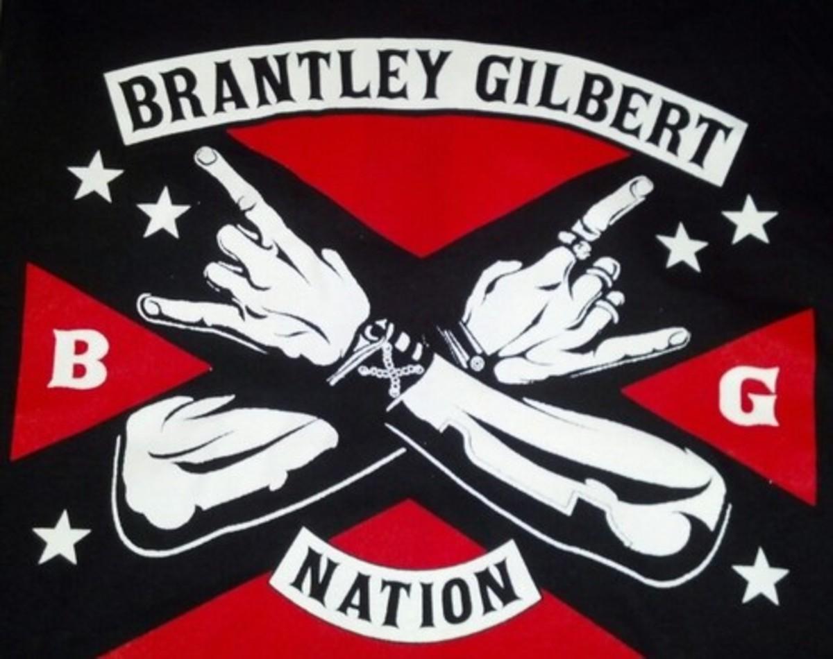 Brantley Gilbert: BG Nation Fan Letter Brantley Gilbert Flag Wallpaper