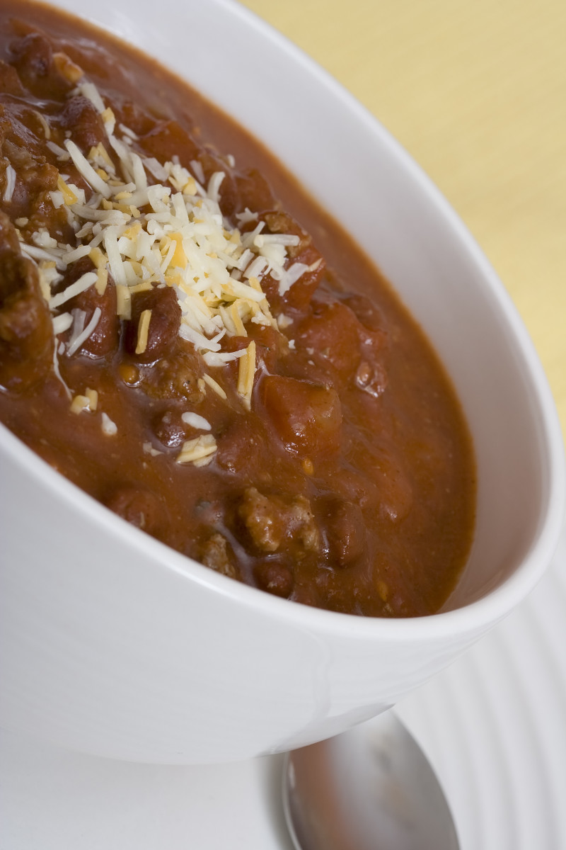 Chunky homemade chili
