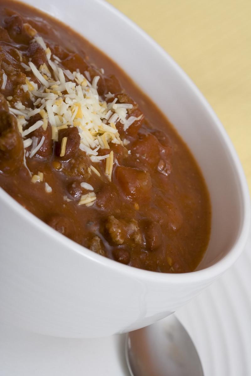 Chunky homemade chili
