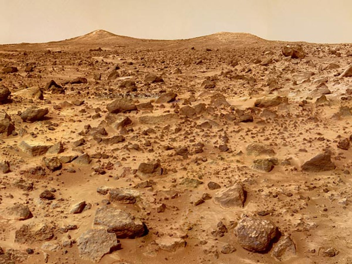 Photo taken on Mars