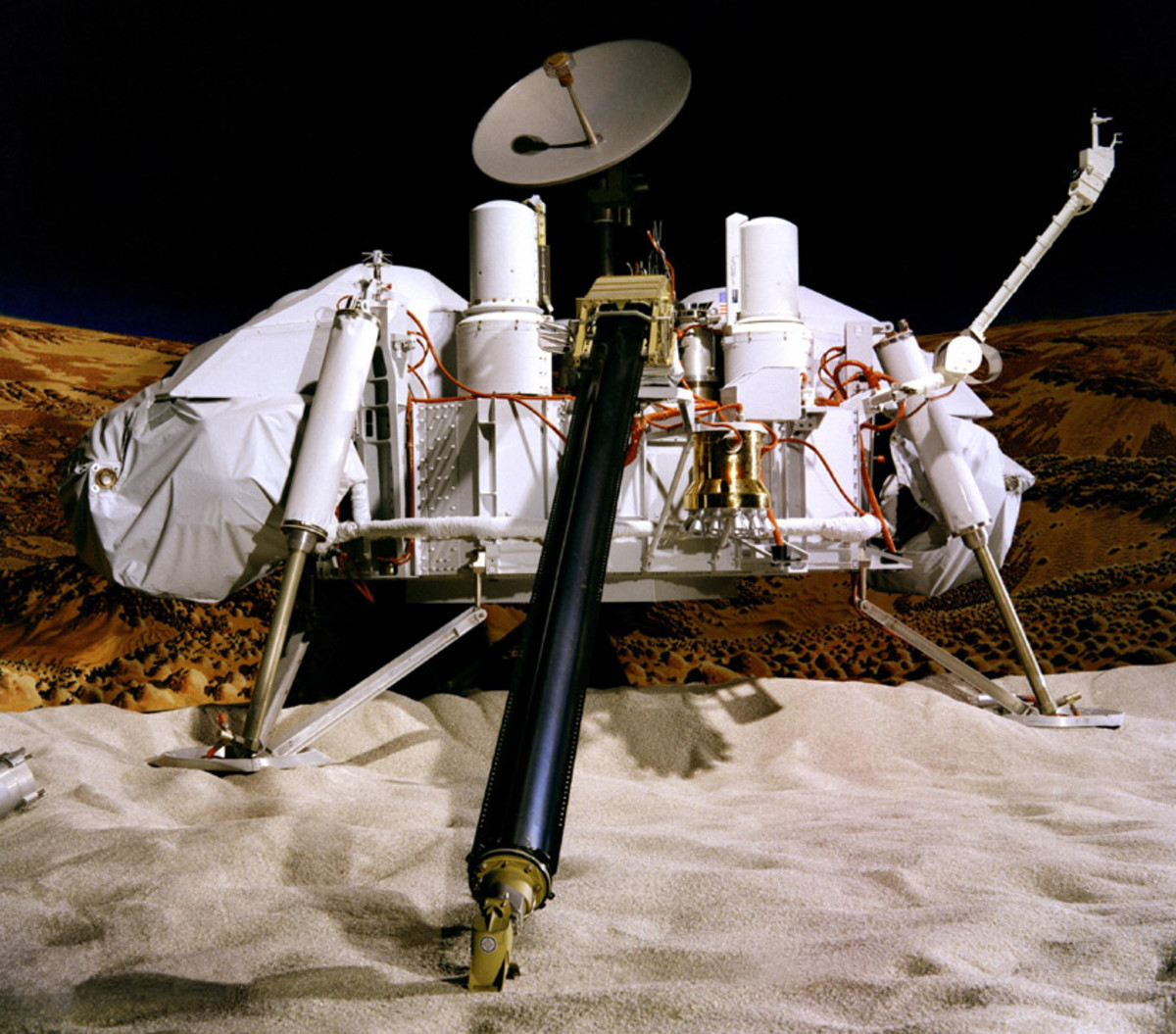 The Viking Lander, the first probe from the U.S. Landed in 1976 on Mars