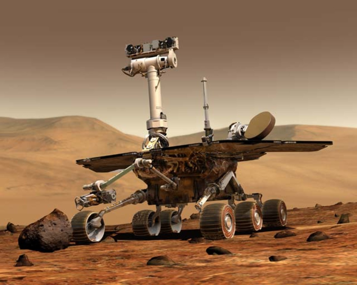 Spirit/Opportunity Rover. Landed on Mars in 2004. Survived longer than any probe sent so far to Mars.