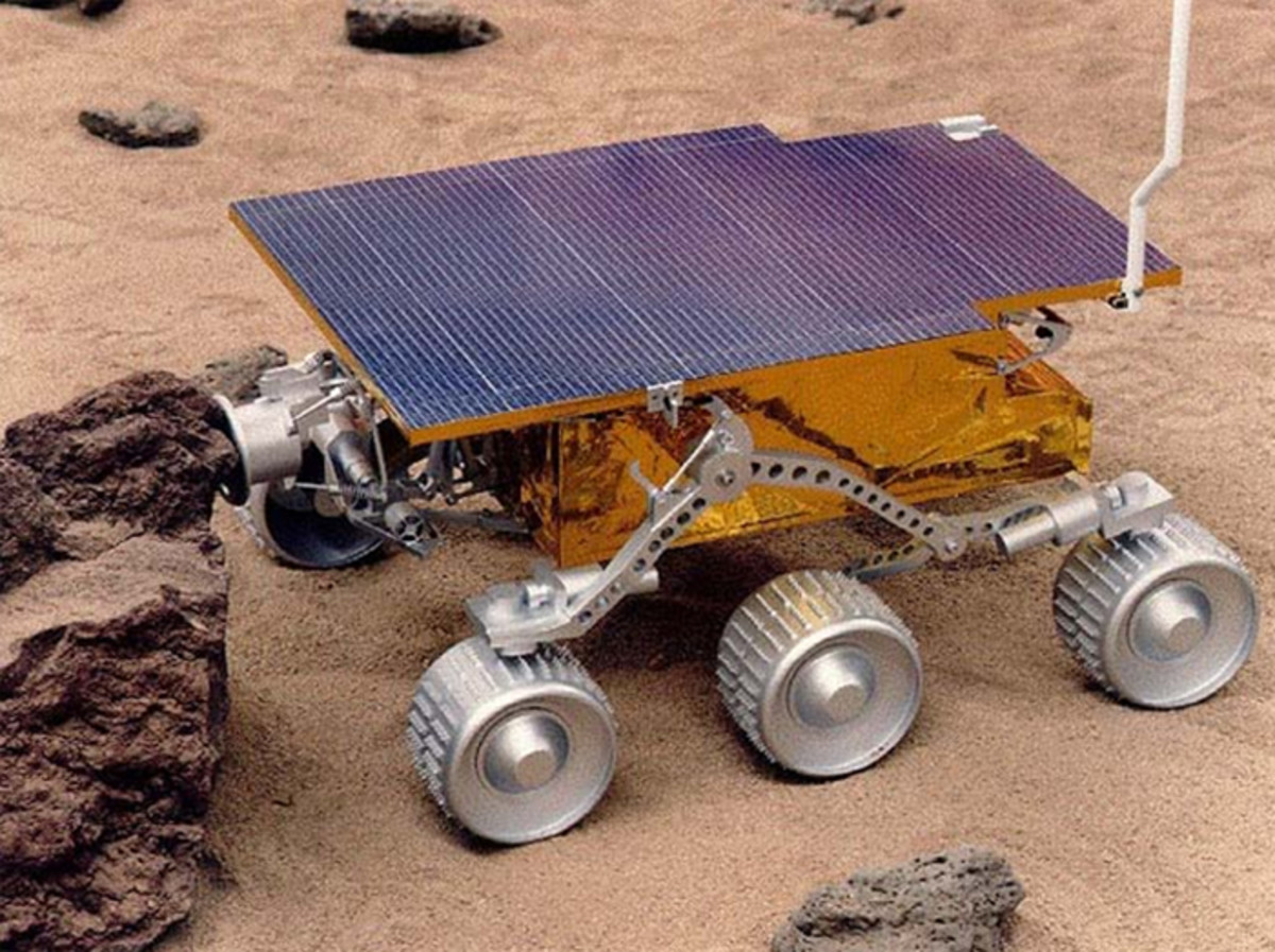 The  Sojourner Rover, the first rover to land on Mars on July 4, 1997.