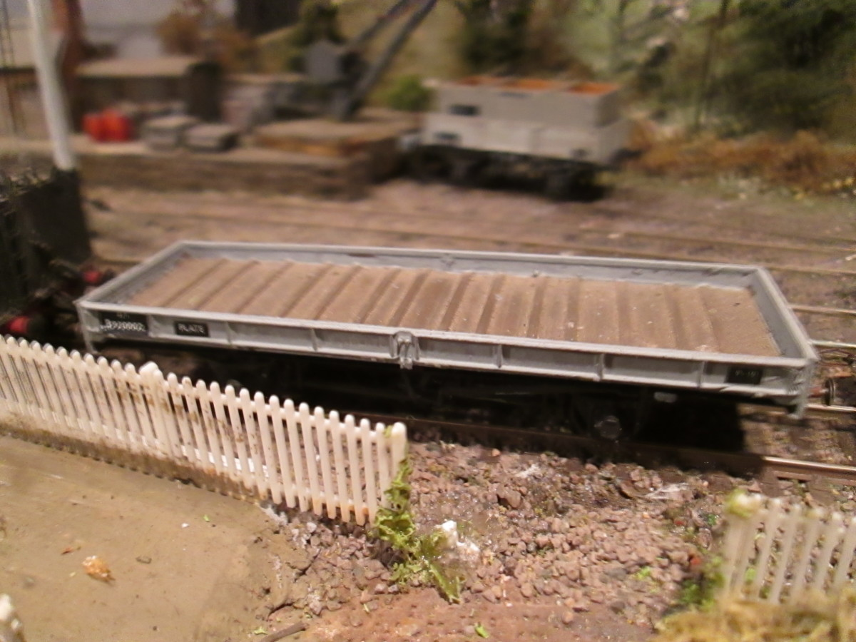 Parkside LNER/BR Plate Wagon, would run with Trestle Wagon above and maybe twin or double and bogie bolster vehicles carrying heavy industrial loads...