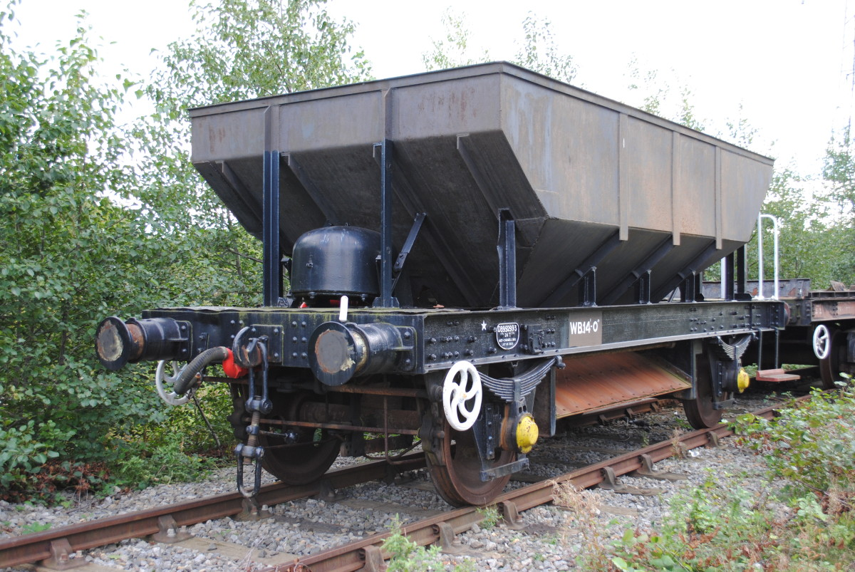 British Railways' 'Dogfish' ballast wagon - vacuum fitted with screw couplings, this wagon heralded a new era on Britain's railways, although guards and brakevans on trains would soon be redundant
