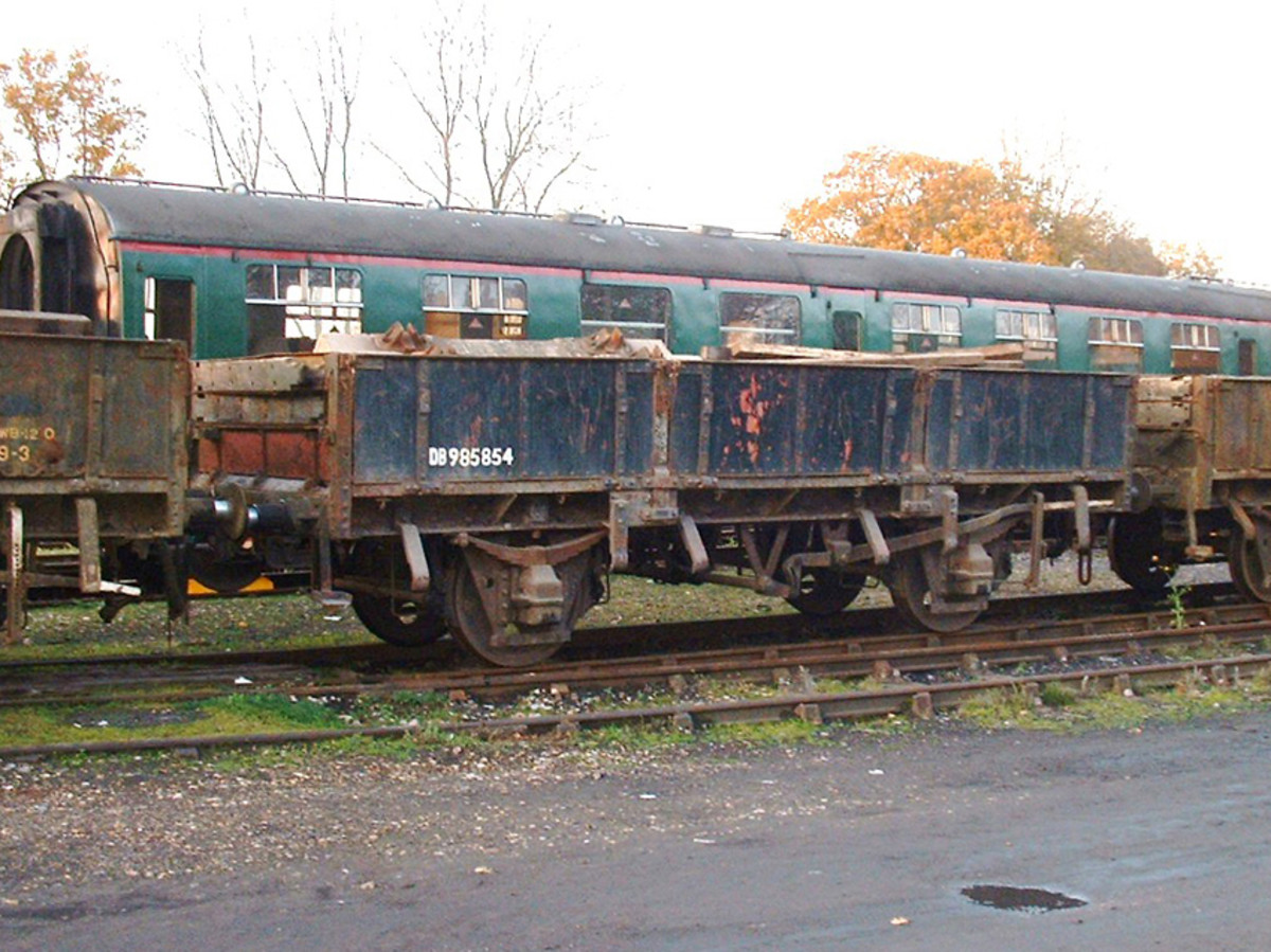 BR Grampus Ballast wagon seen on the Bluebell Railway