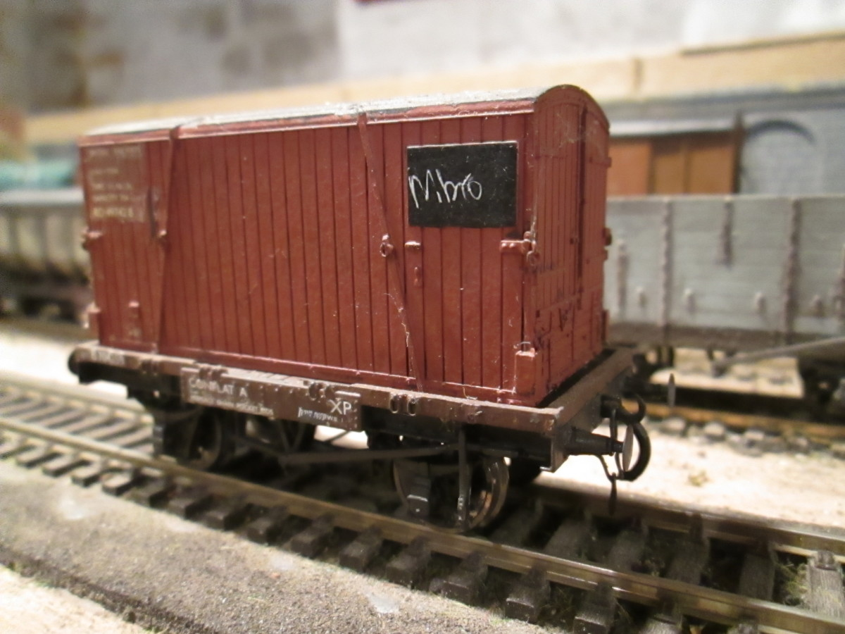 Blast from the past! Mainline British Railways container wagon with added vacuum pipes and instanter couplings