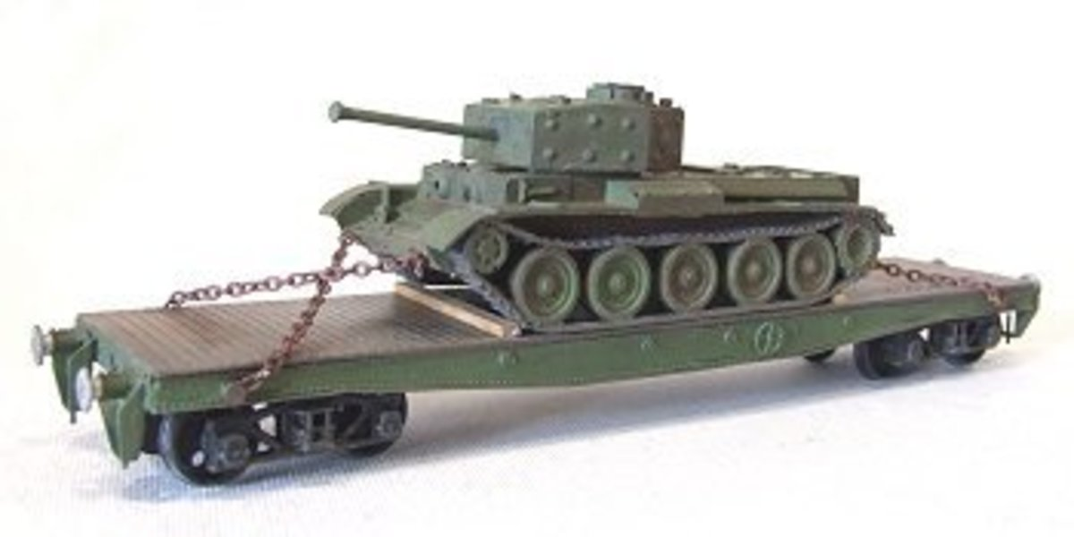 This is the DOGA Warflat kit built as per original use by the War Department (WD) complete with Cromwell tank