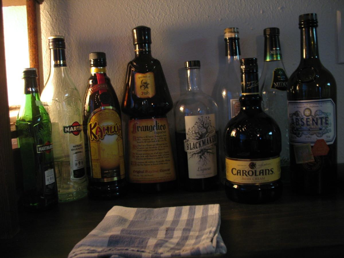 Liqueurs, aperitifs and digestifs