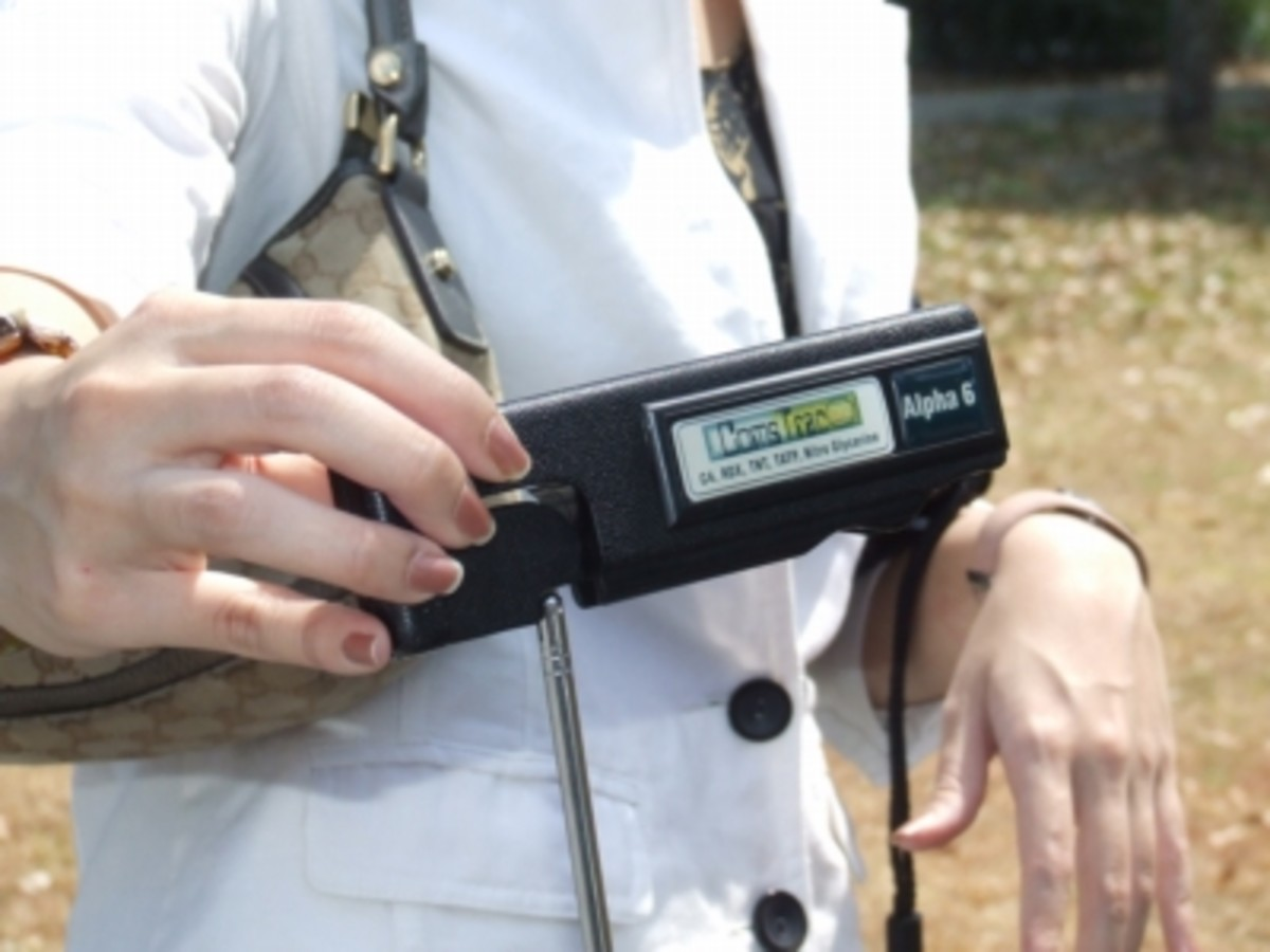 Alpha 6, handheld detector of... something?
