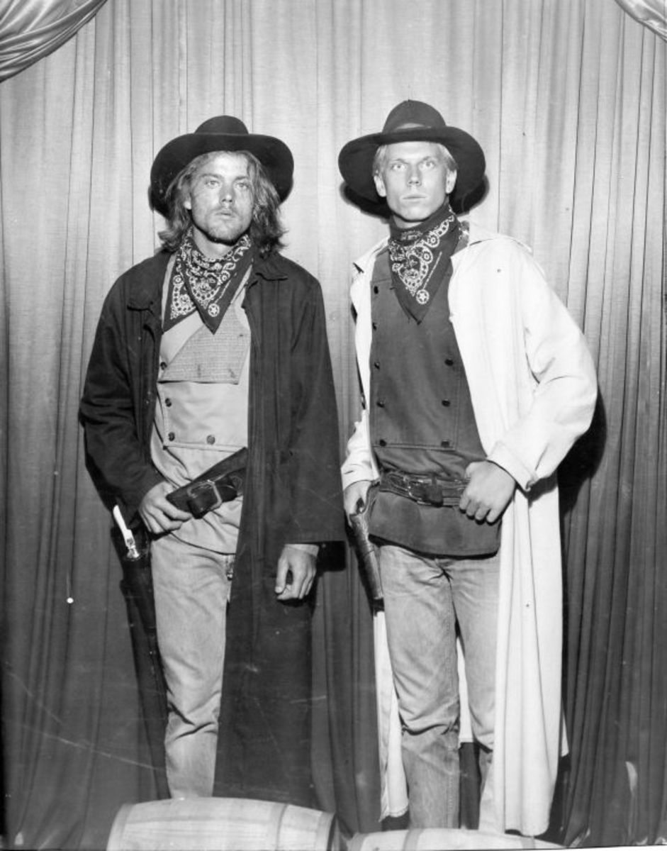 Scott and Chris in their 20's. They finally graduated to the outlaws they wanted to be. This is one of the last times Knott's made pictures on tin-type. With the advent of digital photography, the darkroom and the choices of media they offered disapp