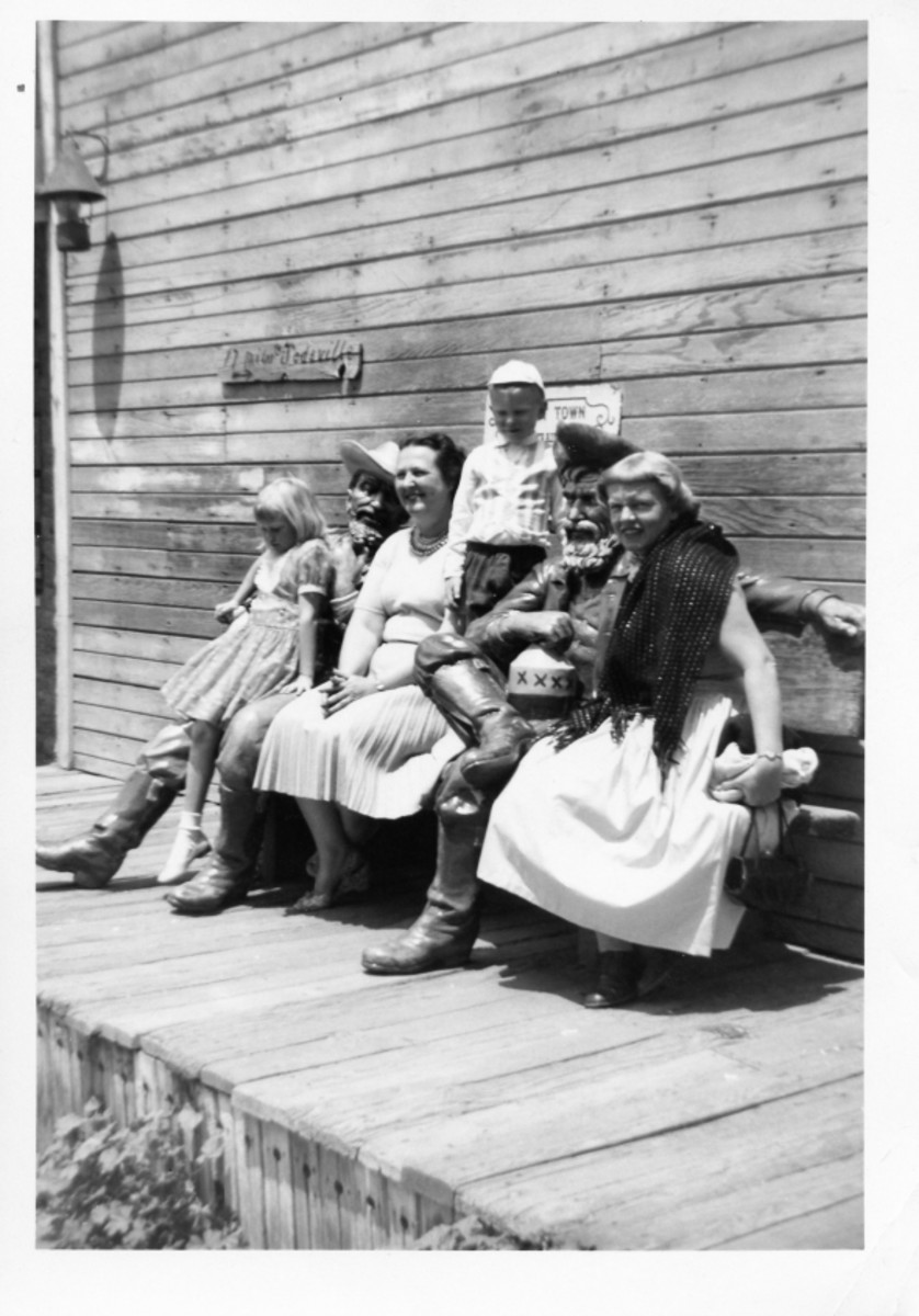 July 1954 - My Montana relatives, me, Aunt Bernice, my brother and my mother.