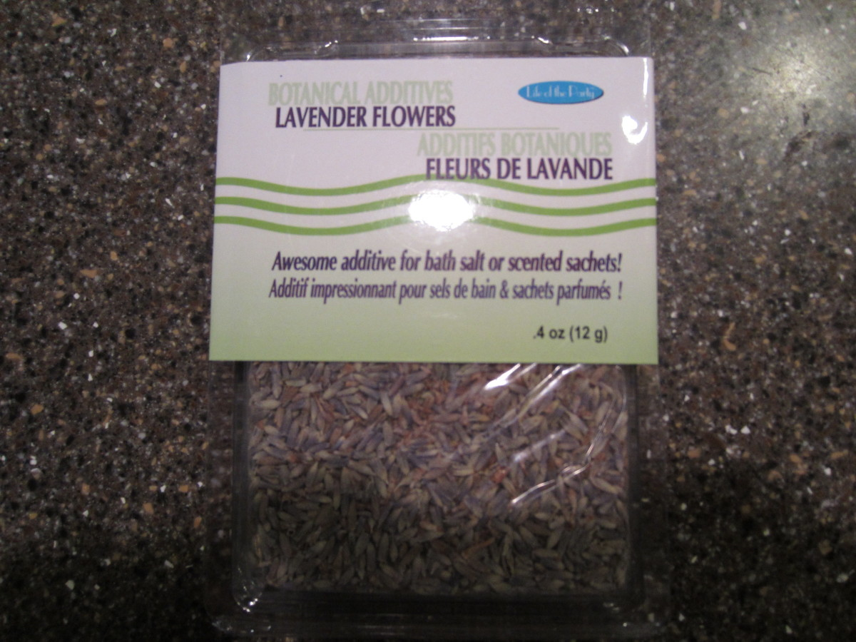 Real lavender I used for the soap.