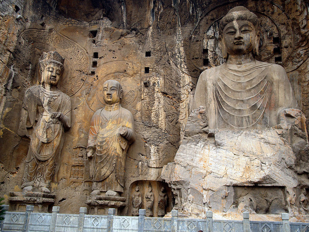 Buddhist Stone Carvings at Longmen Cave, China