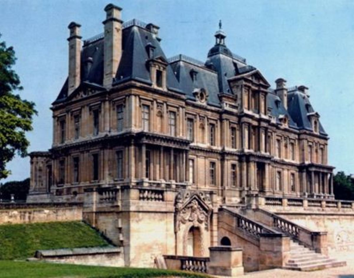 Chateau of Maisons Laffitte, nestled in the Parisian suburbs, designed by Francois Mansart in the mid 17th century and a brilliant example of French Baroque architecture and design.
