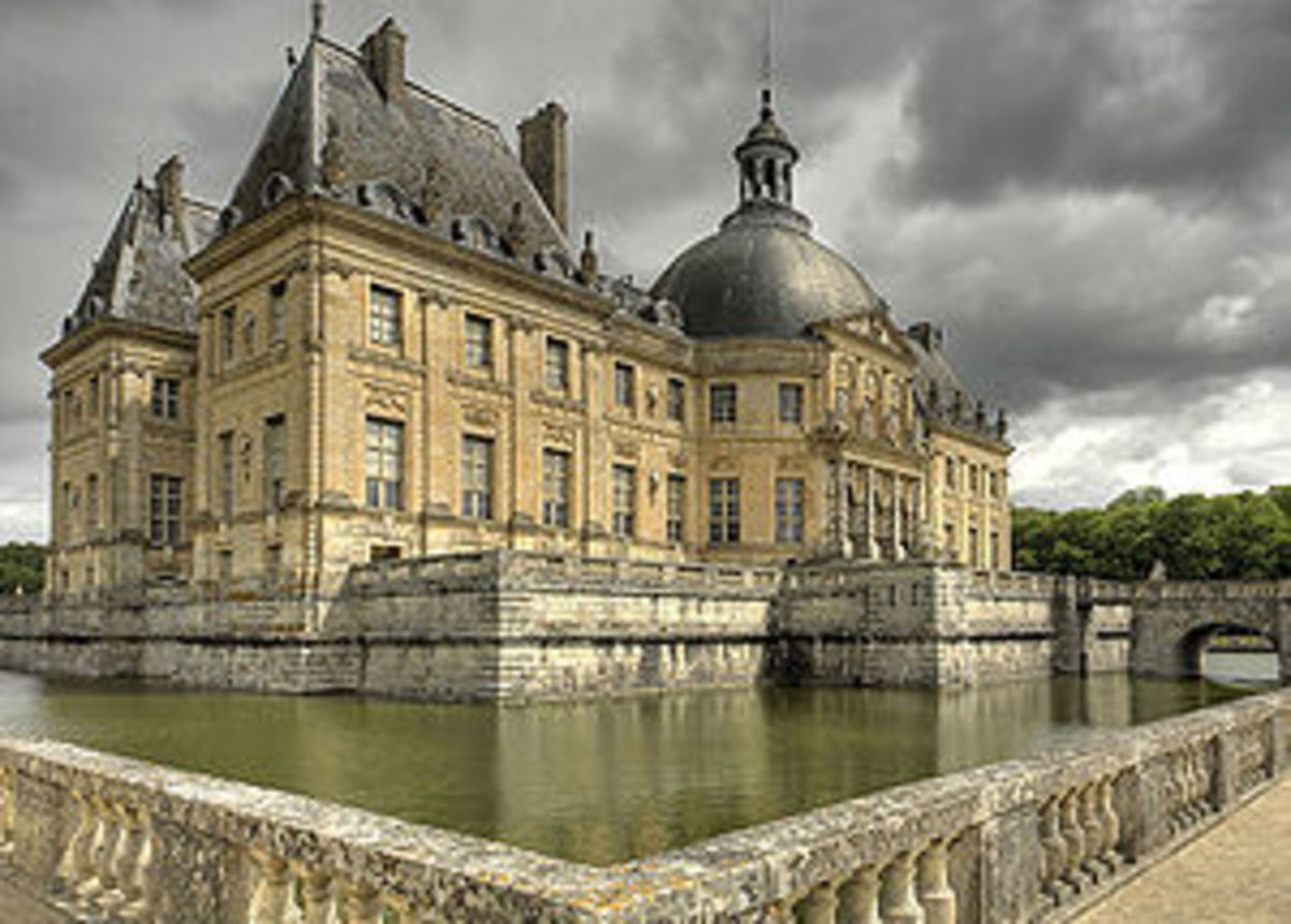 Vaux Le Vicomte, in Maincy, southwest of Paris. Designed by Le Vaux for Nicolas Fouquet around 1660.
