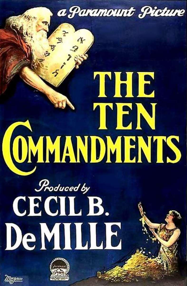 Poster for the 1923 Ten Commandments