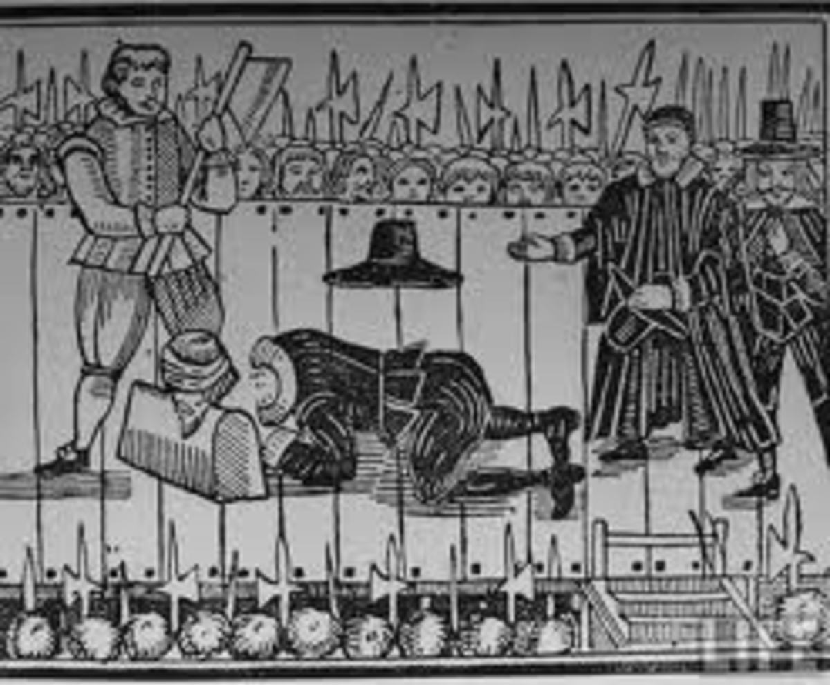 Woodcut Showing Charles I Execurion
