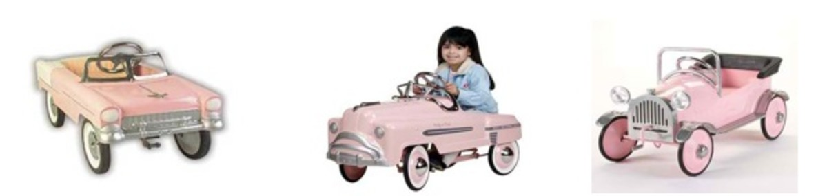 Pretty In Pink Pedal Cars