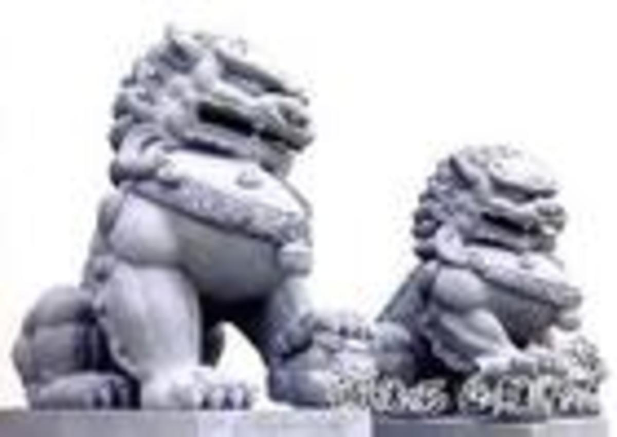 Stone Lions often stand outside the palace or the government