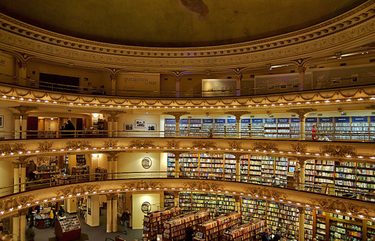 The beautiful El Ateneo Bookstore in Buenos Aires, Argentina.