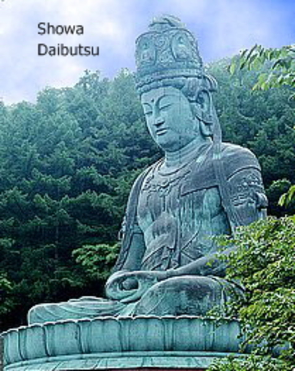 The Showa Daibutsu was erected in 1984, during the Showa period.