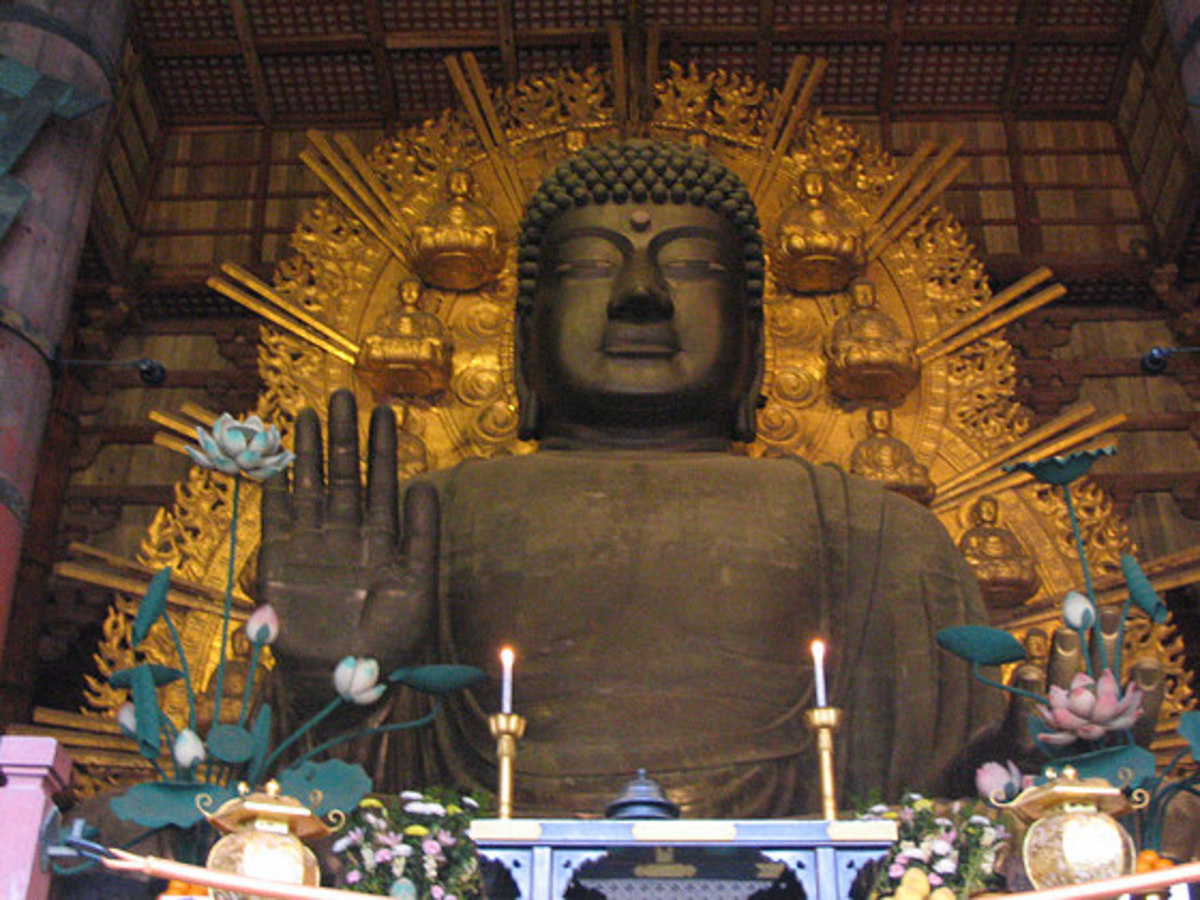 The Todai-ji Buddha, Dainichi, or actually, Birushana.