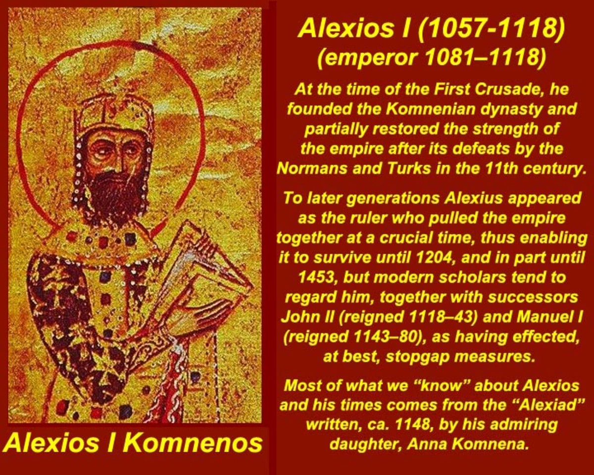 Alexios I Komnenos, eldest son of John I Komnenos