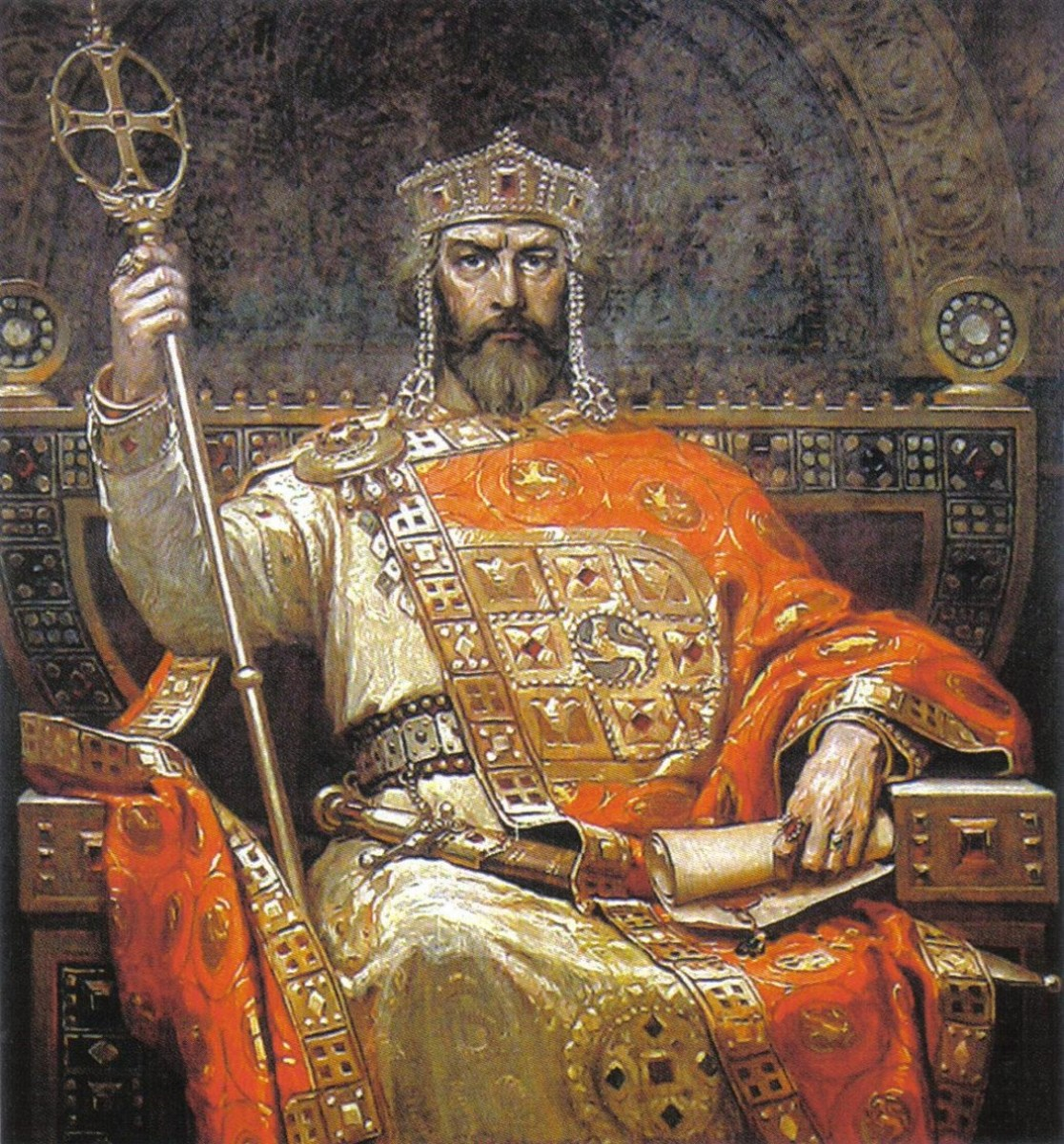 The emperor Nikophoras II Phokas, ruled  963-969 prior to Basil II