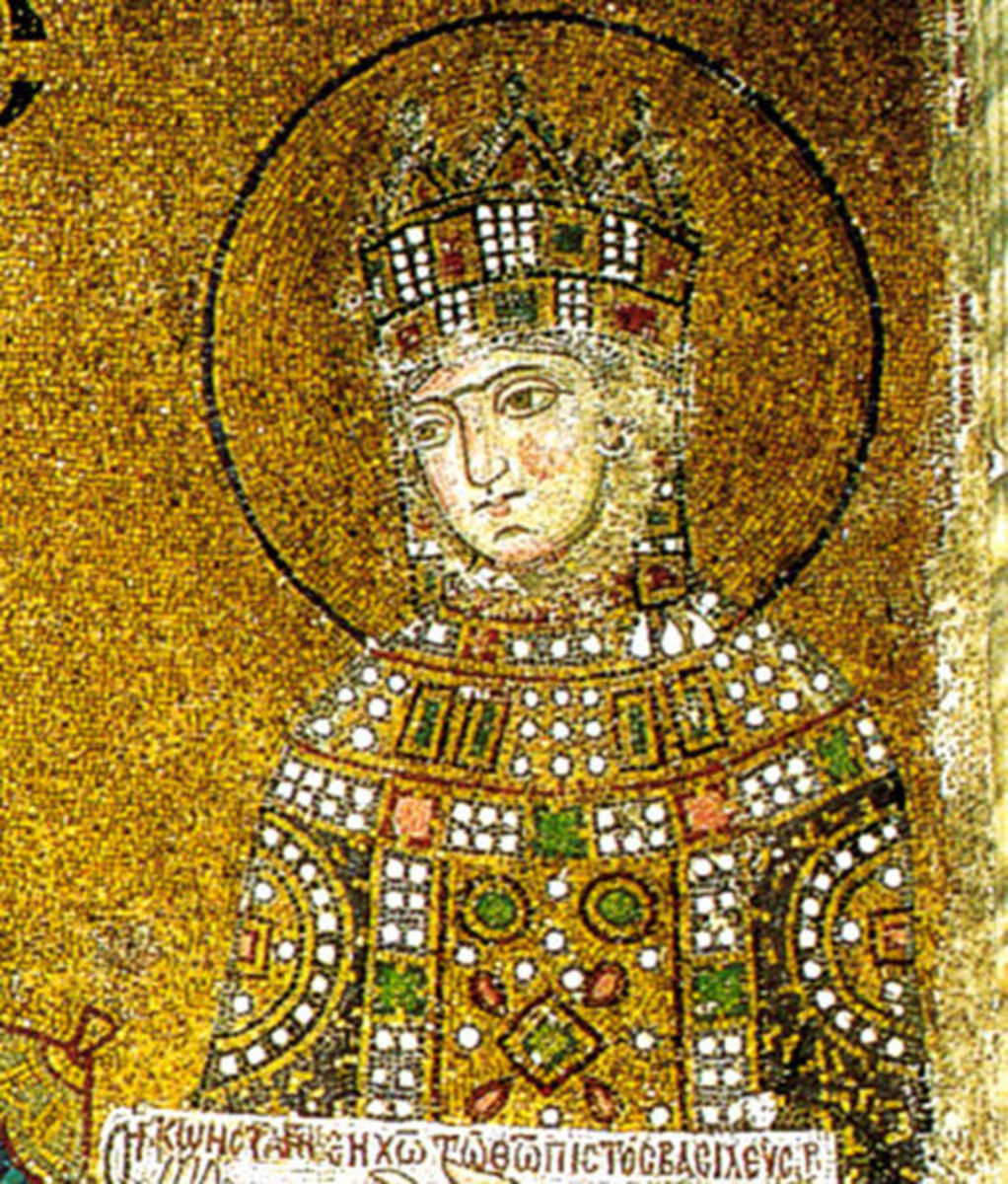 The Empress Zoe, said to have been 'taken' with Harald Sigurdsson - she had three husbands in quick succession