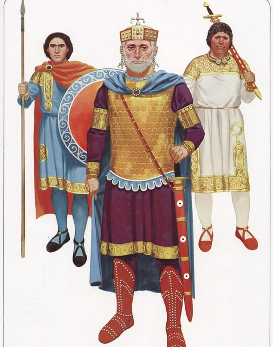 Emperor Basil II 'the Bulgar slayer' with attendants